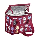 TEAMOOK Insulated Lunch Bag Cool Bag Box with Handles 6 cans Lovely Cat