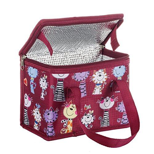 TEAMOOK Borse Porta Alimenti Lunchbox Bag Lunch Box Sacchetto Isolato Borsa Secchiello per PIC-nic Viaggio (Gatto)