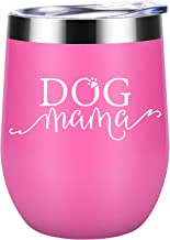 Dog Mama - Dog Lover Gifts for Women - Funny Dog Mom Christmas Gifts for Dog Lovers - Dog Themed Birthday Gifts for Wine Lovers, Dog Owner, Fur Mom, Grandma, Mother, Best Friend - Coolife Wine Tumbler