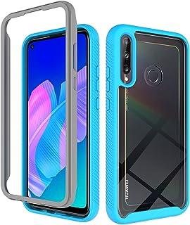 """جراب SHUNDA Huawei Y7p، جراب خلفي شفاف من البولي يوريثان اللدن بالحرارة مضاد للصدمات لهاتف Huawei Y7p 6.4"""" - أزرق"""