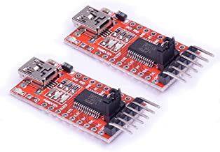 Cylewet 2Pcs FT232RL 3.3V 5.5V Module USB to TTL Serial Adapter Module for Arduino Mini Port USB to Serial Interface Module (Pack of 2) CYT1007