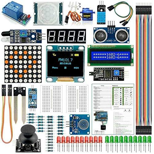 Für Duino Kit Uno R3 Nano V3.0 2560 Nano Kit Modul Sensor mit 0,96 Zoll OLED Kit LCD Display Zubehör