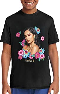 DOMINICHIGGINS Unisex Boys Girls Short Sleeve Top Youth T-Shirt Teenager Tees Blac