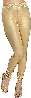 Golden Shimmer Stretch Knit Legging for Girls & Women's