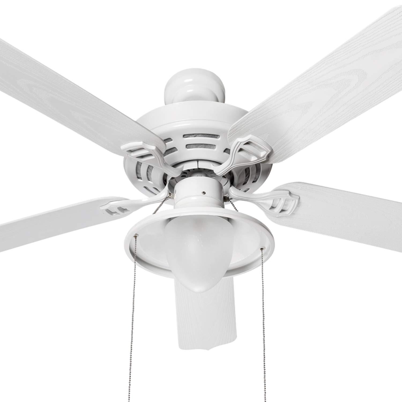 Sulion Hook Ventilador de techo Grande, Blanco: Amazon.es: Iluminación