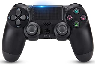 Wireless Controller for PS4, Remote for Sony Playstation 4 with USB Cable and Double Shock, Black