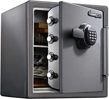 SentrySafe SF123ES Fireproof Safe with Digital Keypad 1.23 Cubic Feet,Black