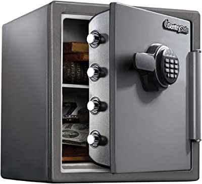 SentrySafe SF123ES Fireproof Safe with Digital Keypad 1.23 Cubic Feet, Black