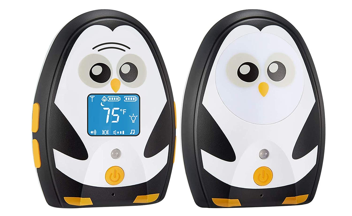 TimeFlys Digital Audio Baby Monitor Mustang QQ, Long Range up to 1000 ft, Vibration, Temperature Monitoring, Warning Lullabies, Two Way Talk, LCD Display, Rechargeable Battery, Night Light