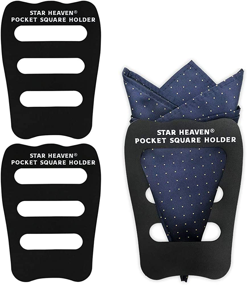 Pocket Squares Holder For Men, Best Accessories for Suits, Tuxedos,Vests and Dinner Jackets, 1/3/5/8Pack Assorted.
