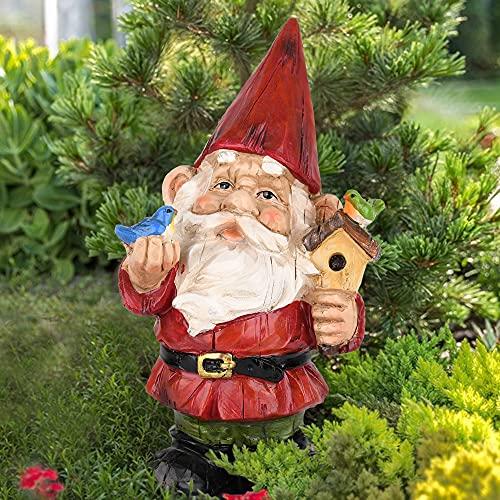VAINECHAY Lustig Gartenzwerg Groß Wetterfest Zwerge Figuren Garten Lustige für Außen Gartendeko Gartenstatuen