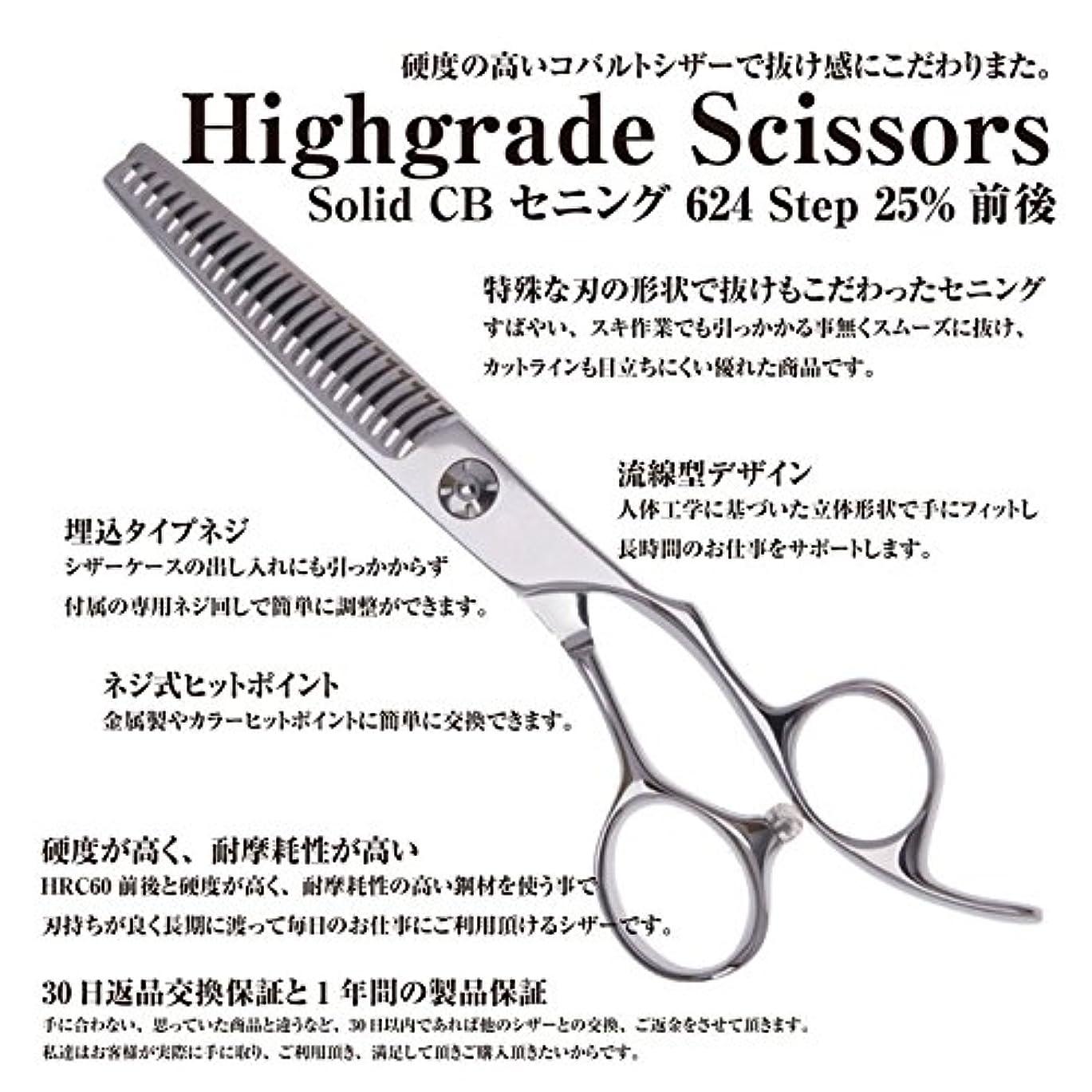 オフセット醜い頭痛Highgrade series Solid CB セニング 624 Step 25%前後/美容師 理容 理容師 散髪 はさみ すきばさみ セニング