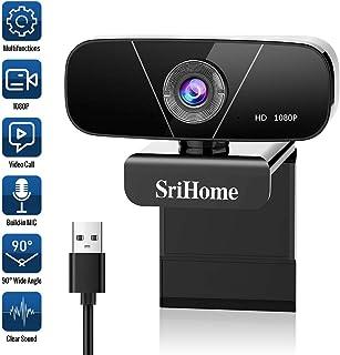 Faneam HD 1080P Webcam con Micrófono USB Web CAM Streaming Cámara para Conferencias Videollamadas Gaming, Compatible con Windows/Android/Linux/WebEx/Youtube/FaceTime,Plug and Play