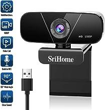 Faneam HD Webcam con Micrófono 1080P/30fps, USB Web CAM Streaming Cámara para Conferencias,Videollamadas,Gaming, Compatible con Windows/Android/Linux/WebEx/Zoom/FaceTime,Plug and Play