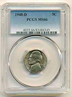 1948 D Jefferson Nickel MS66 PCGS