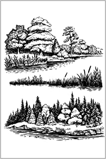 Variou Tree Grass Clear Stamps for Card Making Decoration and Scrapbooking Rubber Stamp