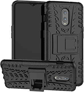 OnePlus 6T Case SunRemex Durable Armor with Full Body Protective and Resilient Shock Absorption and Kickstand Design for OnePlus 6T Phone (Black)