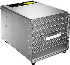 Déshydrateur Numérique Rectangulaire, Thermostat Réglable 20-80 ° C Minuterie Programmable, Séchoir à Fruits, Légumes et V...