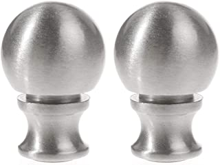 Penck Lamp Finials Lighting Accessories Metal Brushed Nickel Ball Lamp Finial Decoration Accessories 1-1/2 inch High, Silver