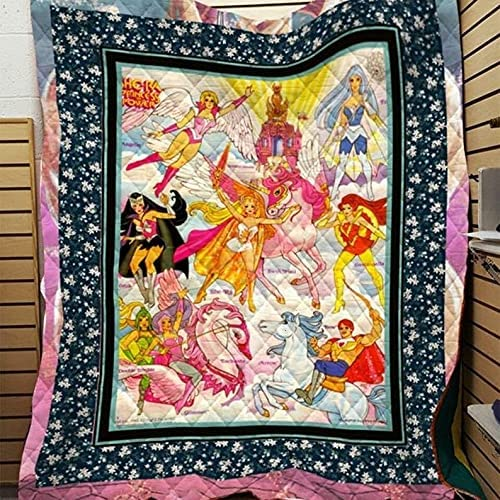 She-Ra Import Princess of Power Same day shipping Adora Bl Quilt Blanket Sherpad