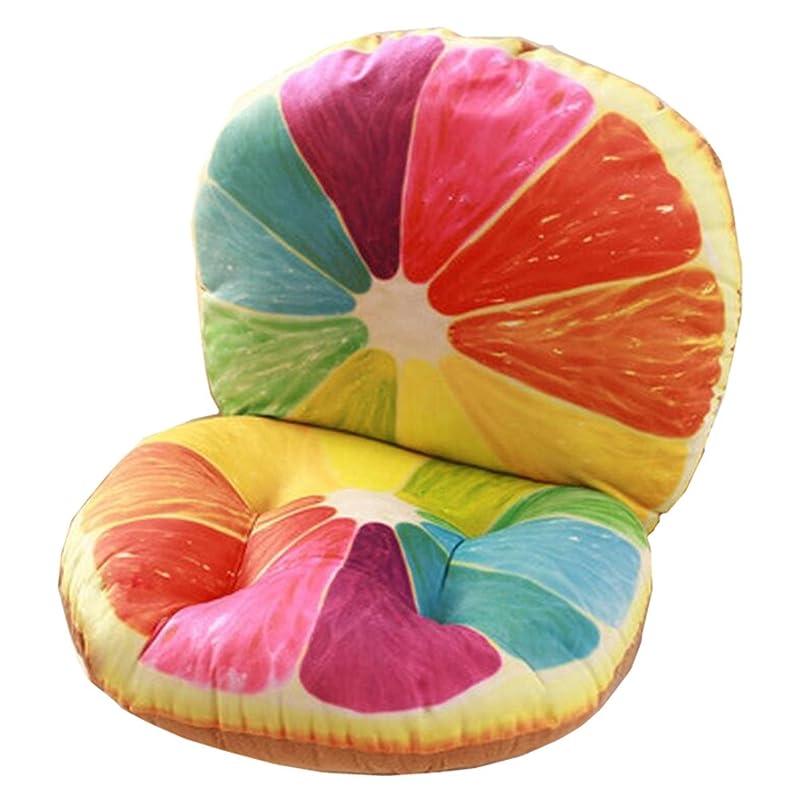 空いている恐怖症地球IXIMO 座布団クッション オリジナル 3D 果物型 お菓子型 背もたれ付き 低反発 ぬくもり あったか座椅子 可愛い 椅子用クッション カバー取り外し可能 北欧スタイル シートクッション コットンクッション おしゃれ 体圧分散効果/優しい座り心地
