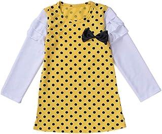 YWLINK Lange ÄRmel Baby MäDchen RüSchen Retro Bogen Prinzessin Kleid Sommerkleid Outfits Kleidung