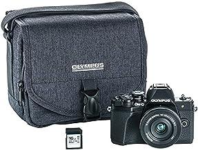 Olympus OM-D E-M10 Mark III Camera Kit with 14-42mm EZ Lens (Black), Camera Bag & Memory Card, Wi-Fi Enabled, 4K Video, US...