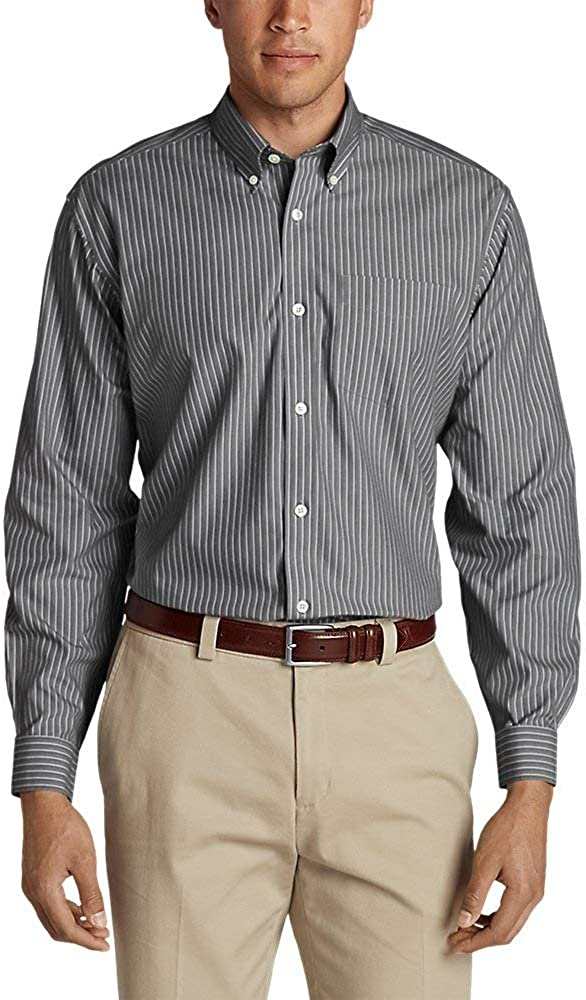 National uniform free shipping Eddie Bauer Men's Wrinkle-Free Pinpoint Classic Miami Mall Fit Long- Oxford