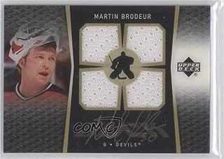 Martin Brodeur (Hockey Card) 2007-08 Upper Deck Ice - UD Black Ice Jerseys - Autographs [Autographed] #BI-BR
