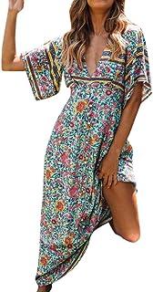 785fa0bf79 Robe de soirée pour femme d'été à manches courtes à col en V et