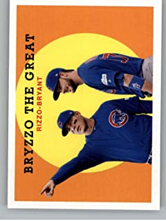 2018 Topps Archives Baseball #302 Kris Bryant/Anthony Rizzo Chicago Cubs Rare Short Print SP