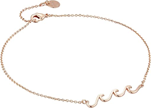 Rose Gold Plated Wave Charm