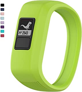 TERSELY Replacement Band Strap for Garmin Vivofit JR 3 Junior 2, Soft Silicone Rubber Wrist Strap Watch Band Bracelet for VIVOFIT 3 JR Junior 2 1 Kids Fitness Tracker - Green