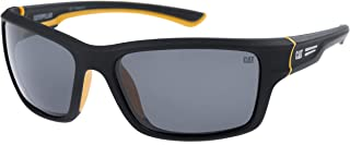 Caterpillar Men's Ridge Polarized Wrap Sunglasses, Matte...