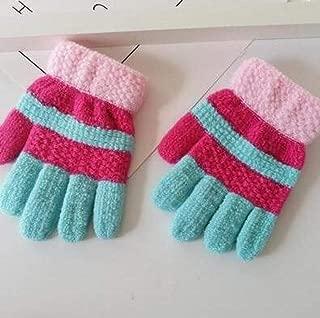 Gloves Winter Thick Warm Knitted Mitten Winter Striped Contrast Warm Mitten Mittens R660 @ Rose