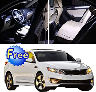 SCITOO 12Pcs White Interior LED Light Package Kit Replacement Bulbs Fits for KIA Optima 2011-2015