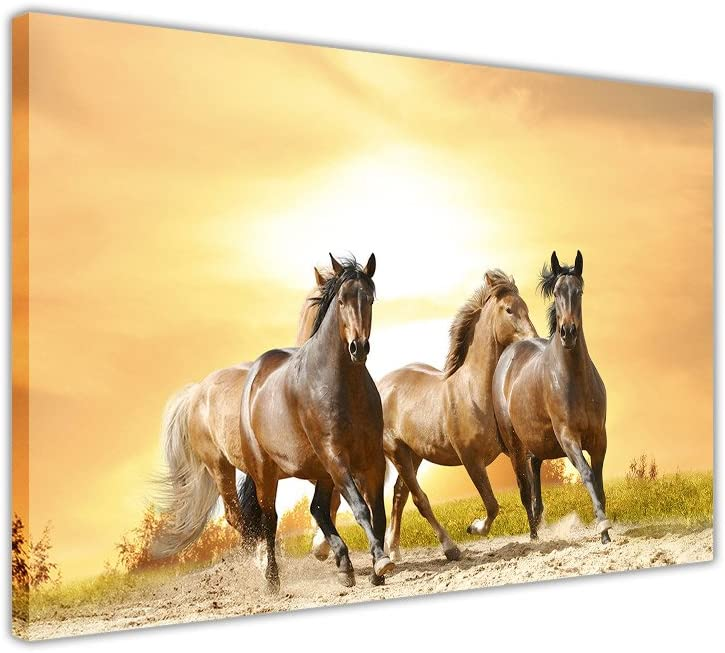 Running Wild Horses Sunset Canvas Great Popular shop is the lowest price challenge interest Decoration Pic Prints Art Wall