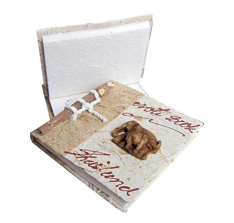 RaanPahMuang Notebook Pad Saa Mulberry Paper Elephant Sculpture 4 inch Set of 3