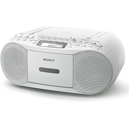 ソニー CDラジカセ レコーダー CFD-S70 : FM/AM/ワイドFM対応 録音可能 ホワイト CFD-S70 W