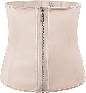 Fortune-God Latex Waist Traine- Body Shaper Women Corsets with Zipper Hot Shapers Cincher Slimming Belt