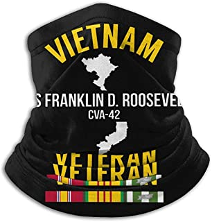 Randy-Shop Veterano de Vietnam USS Franklin D. Roosevelt CVA-42 Unisex Fleece Neck Warmer Face Neck Polainas
