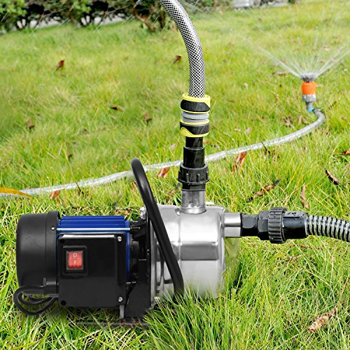 1.6HP Shallow Well Sump Pump Stainless Booster Pump Lawn...