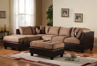 Amazon.com: With Chaise - Living Room Sets / Living Room Furniture ...