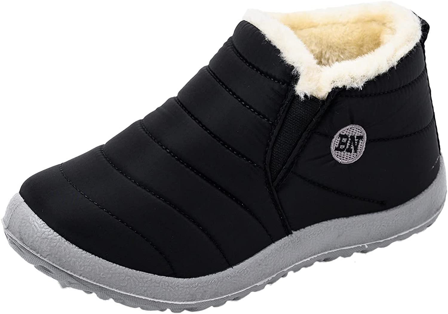 Boots For Women With Heel Ankle Boots for Women Low Heel, Warm Snow Boots Womens Fur Lined Booties Ladies Winter Ankle Boots Waterproof Anti-Slip Outdoor Winter Shoe Flat Sneakers