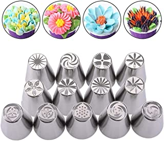 13 PCS/Set New Russian Tulip Nozzles For Cake Cupcake Decorating Icing Piping Kitchen Tool