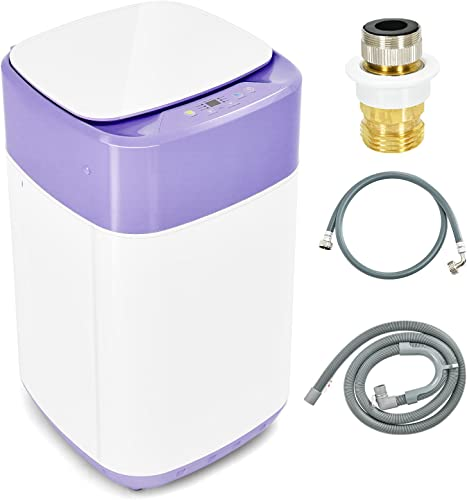 new arrival Giantex high quality Full Automatic Washing Machine, 2 in 1 Portable Laundry Washer and Dryer Combo 8lbs, 1.0 cu.ft 6 Programs 6 Water Levels Built-in Drain Pump, Top Load Washer 2021 Apartment Dorm (Purple & White) online sale