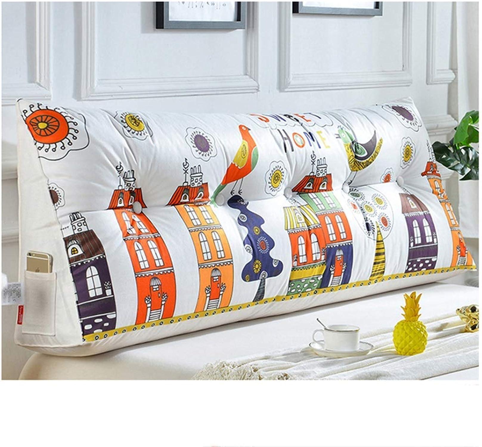 AOLIr Triangle Lit Coussin Canapé Dossier Chevet Paquet Doux Lombaire Oreiller Taille Coussin Lavable,  2,150cm
