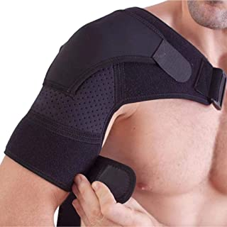 Shoulder Brace by ZEE.R0 with Ice Packs Reusable for Injuries, for Men and Women, for Labrum Tear, Support, Compression, Pain Relief, Immobilizer for Rotator Cuff, with Pressure Pad for Ice Pack.