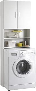 FMD 913-001 Olbia Armoire de Rangement 2 Portes 2 Compartiments Blanc