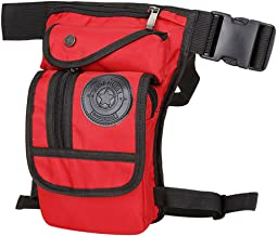 Hebetag Nylon Drop Leg Bag for Men Tactical Military Motorcycle Bike Cycling Riding Travel Outdoor Sports Waist Fanny Pack Bags Red
